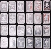 Lot of (20) 1 Gram .999 Silver Bullion Bars