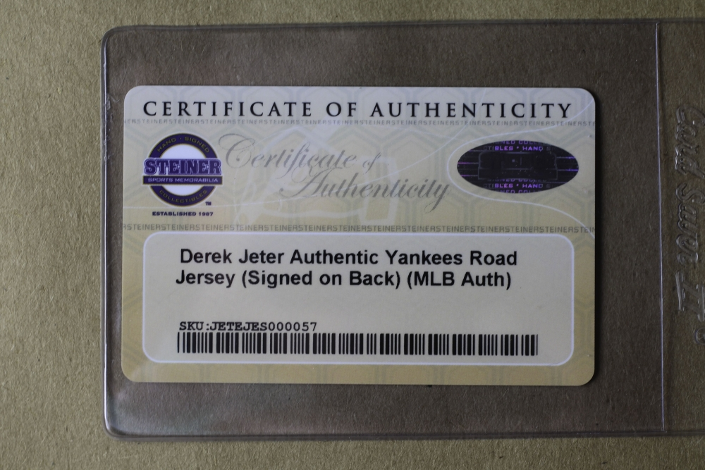 Derek Jeter Signed Yankees 35 Quot X 43 Quot Custom Framed Jersey