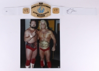 Lot of (2) Signed Wrestling Items with Ric Flair & Arn Anderson (Schwartz COA)