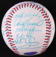Online Sports Memorabilia Auction | Pristine Auction: https://www.pristineauction.com/a718125-1998-Montreal-Expos-Team-Signed-Expos-Logo-Baseball-with-21-Signatures-Including-Orlando-Cabrera-Felipe-Alou-Hollywood-Collectibles-COA