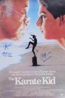 "Ralph Macchio, William Zabka & Martin Kove Signed ""The Karate Kid"" 24x36 Poster Inscribed ""Daniel Larusso"", ""Johnny"" & ""Sensei Kreese"" (Schwartz Hologram)"