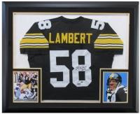 "Jack Lambert Signed Steelers 37x44 Custom Framed Jersey Inscribed ""HOF '90"" (Radtke COA & Lambert Hologram)"