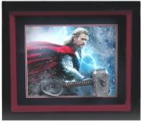 "Stan Lee Signed ""Thor"" 24x28 Custom Framed Replica Movie Prop Display (Radtke COA)"