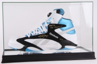 "Shaquille O'Neal Signed LE Reebok Size 22 Shoe Inscribed ""HOF 16"" & ""4x Champs"" In High Quality Display Case (Steiner COA)"