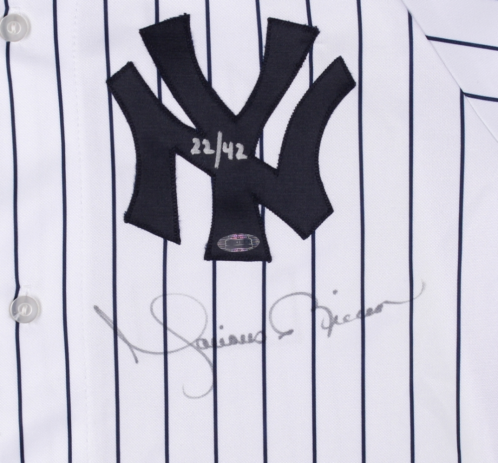 7abeb4e79 ... Mariano Rivera Signed LE Yankees Authentic Jersey with 100th  Anniversary 2003 World Series Patch (Steiner ...