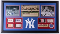 1962 Yankees World Series Tribute 24x42 Custom Framed Photo Display Team-Signed by (6) Including Yogi Berra, Mickey Mantle, Whitey Ford (JSA LOA)