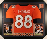 Demaryius Thomas Signed Broncos 35x43 Custom Framed Jersey (JSA COA)
