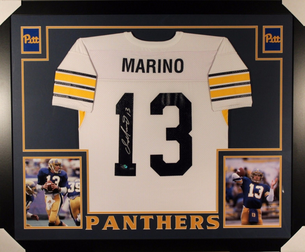 01a6309998d Dan Marino Signed Pittsburgh Panthers 35x43 Custom Framed Jersey (Mounted  Memories COA) at PristineAuction