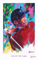 "Tiger Woods 11x17 ""Eye of the Tiger"" Signed Winford Lithograph (Winford COA)"