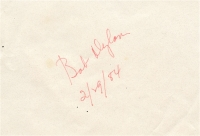 "Bob Dylan Signed Vintage Document Inscribed ""2/29/84"" (REAL LOA) at PristineAuction.com"