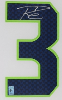 "Russell Wilson Signed 35"" x 43"" Custom Framed Jersey (Wilson Hologram) at PristineAuction.com"