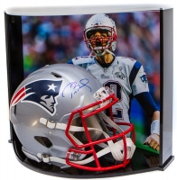 Tom Brady Signed Patriots Full-Size Authentic Proline Revolution Helmet with Custom Curve Display Case (TriStar Hologram)