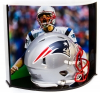 Tom Brady Signed Patriots Full-Size Authentic Proline Revolution Helmet with Custom Curve Display Case (TriStar Hologram) at PristineAuction.com