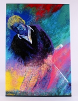 "Bill Lopa ""Jack Nicklaus"" Signed Limited Edition Hand-Embellished 28x40 AROC Giclee on Canvas #17/18"