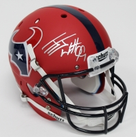 J.J. Watt Signed Texans Custom Matte Red Full-Size Helmet (JSA) at PristineAuction.com