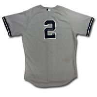 Derek Jeter Signed 2011 Game-Used Yankees Jersey (MLB, Steiner LOA & PSA LOA)
