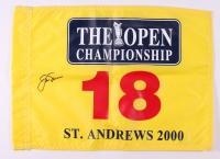 Jack Nicklaus Signed 2000 Open Championship Pin Flag (JSA ALOA)