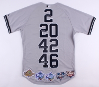 """Derek Jeter, Mariano Rivera, Andy Pettitte & Jorge Posada Signed Yankees """"Core Four"""" Majestic Authentic Jersey Limited Edition #4/27 (Steiner COA)"""
