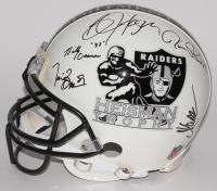 Oakland Raiders Heisman Trophy Signed Authentic Pro-Line Helmet With (5) Signatures Including Bo Jackson, Marcus Allen, Tim Brown (JSA COA & Jackson, Allen & Brown Holograms)