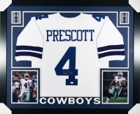 Dak Prescott Signed Cowboys 35x43 Custom Framed Jersey (JSA COA) at PristineAuction.com