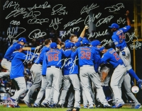 2016 Cubs Team Signed World Series Celebration LE 16x20 Photo with (23) Signatures Including Anthony Rizzo, Kris Bryant, Javier Baez, Kyle Hendricks, Aroldis Chapman (Fanatics & MLB Hologram)