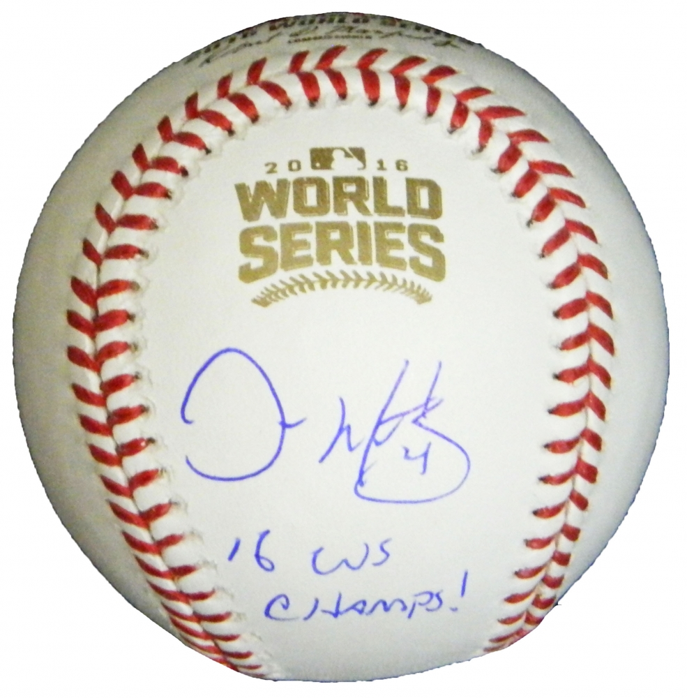 Baseball-mlb Autographs-original Chris Bosio Autographed Picture Cubs With Coa And A World Series Inscription