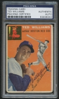 Ted Williams Signed 1954 Topps #1 (PSA Encapsulated)