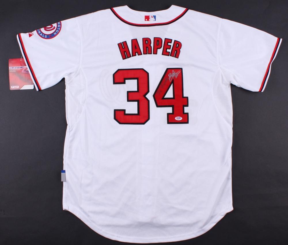 Bryce Harper Signed Nationals Jersey (PSA COA) | Pristine Auction
