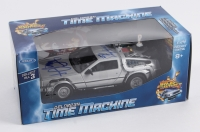 "Michael J. Fox & Christopher Lloyd Dual Signed ""Back to the Future II"" DeLorean Time Machine 1:24 Diecast Car (JSA COA)"