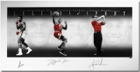 "Muhammad Ali, Michael Jordan & Tiger Woods Signed ""Legends of Sport"" 25x49 Photo (UDA COA)"