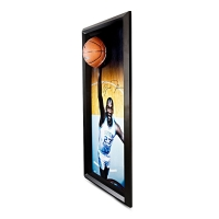Michael Jordan Signed UNC 25x45 Custom Framed Photo Display with Basketball Breaking Through (UDA COA) at PristineAuction.com