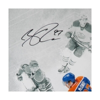 "Connor McDavid Signed Edmonton Oilers ""On the Rise"" 16x24 Photo (UDA COA) at PristineAuction.com"
