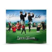 Tiger Woods & Gary Player Signed Double Major 20x24 Photo (UDA COA)