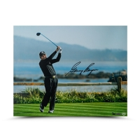 "Gary Player Signed ""Tee Shot on 18"" Limited Edition 16x20 Photo (UDA COA) at PristineAuction.com"