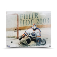 "Grant Fuhr Signed Edmonton Oilers Limited Edition ""Kick Save"" 16x20 Photo (UDA COA)"