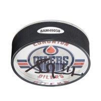 Grant Fuhr Signed Edmonton Oilers Acrylic Hockey Puck (UDA COA) at PristineAuction.com