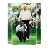 "Jack Nicklaus & Tiger Woods Signed ""Match Play"" 16x20 Photo (UDA COA)"