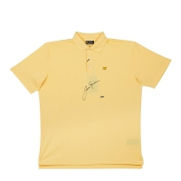 Jack Nicklaus Signed Banana Cream Wick Polo (UDA COA)