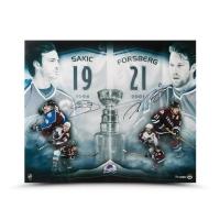 "Joe Sakic & Peter Forsberg Signed Colorado Avalanche ""2x Champs"" 20x24 Limited Edition Photo (UDA COA)"