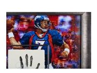 John Elway Signed LE 36x36 Custom Framed Tegata Display (UDA COA) at PristineAuction.com