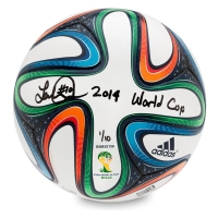 "Landon Donovan Signed Adidas Brazuca 2014 FIFA World Cup Match Ball Inscribed ""2014 World Cup"" LE 10 (UDA COA)"