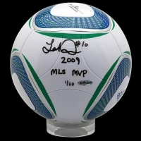 "Landon Donovan Signed MLS Match Soccer Ball Inscribed ""2009 MLS MVP"" (UDA COA) at PristineAuction.com"