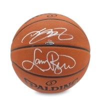 LeBron James & Larry Bird Signed LE Basketball (UDA COA)
