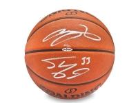 LeBron James & Shaquille O'Neal Signed LE Basketball (UDA COA)