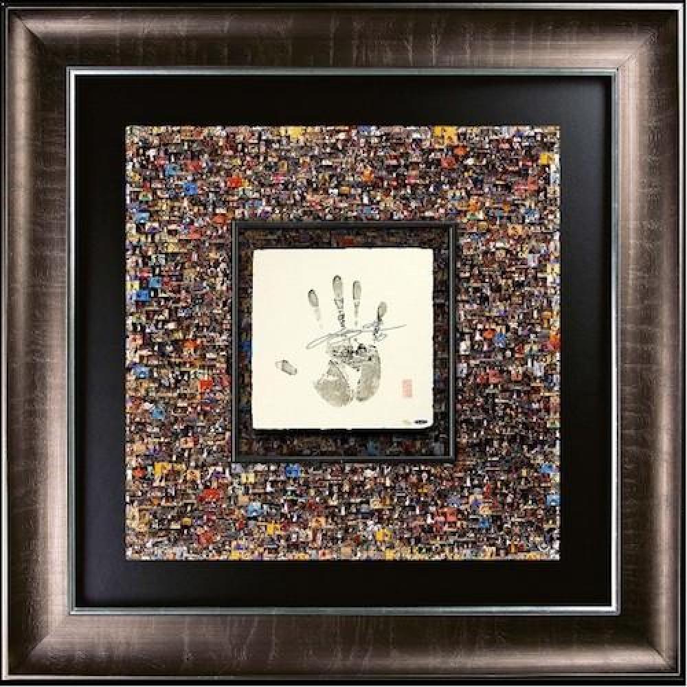 """LeBron James Signed """"Mosaic"""" LE 37x37 Custom Framed """"Tegata"""" Display (UDA COA) at PristineAuction.com"""