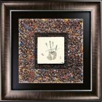 """LeBron James Signed """"Mosaic"""" LE 37x37 Custom Framed """"Tegata"""" Display (UDA COA)"""