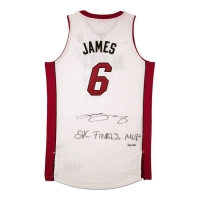 "LeBron James Signed LE Heat Jersey Inscribed ""2x Finals MVP"" (UDA COA)"