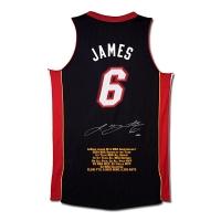 "LeBron James Signed Heat LE ""10th Anniversary"" Highlight Stat Jersey (UDA COA)"