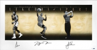 "Muhammad Ali, Michael Jordan & Tiger Woods Signed ""Legends of Sport"" LE 25x49 Photo (UDA COA)"