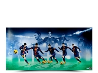 "Lionel Messi Signed ""Arrival"" LE 18x36 Photo (UDA COA)"